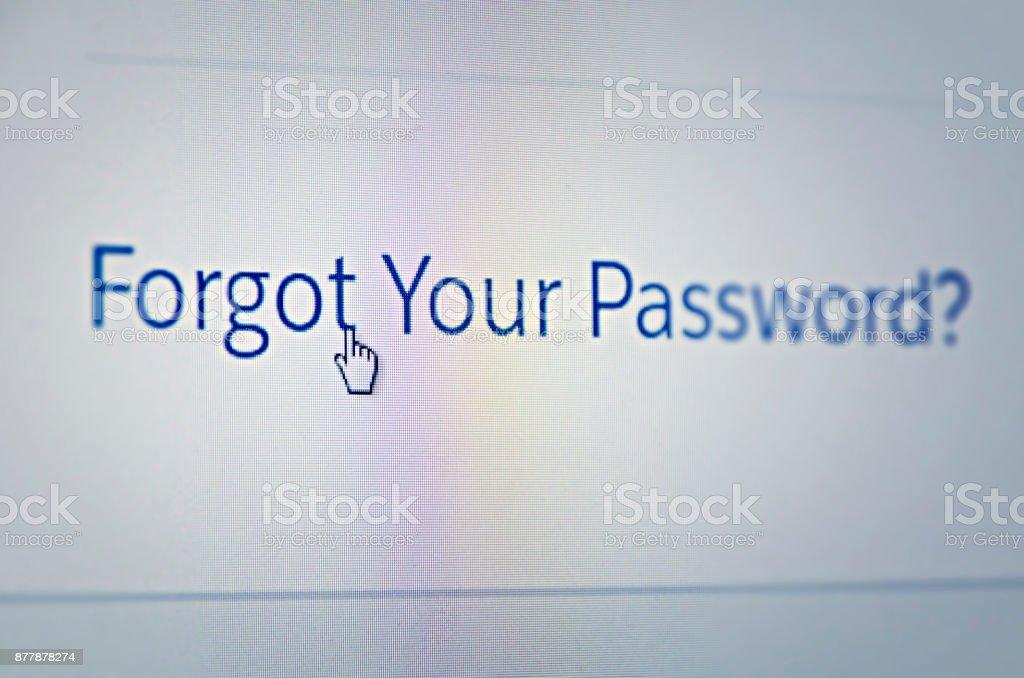 Forgot your Password stock photo