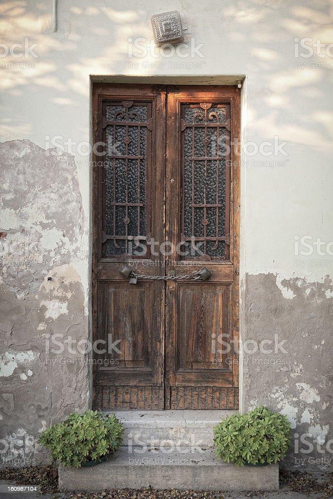 Forgotten door royalty-free stock photo