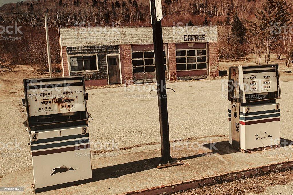Forgotten Gas Bar stock photo