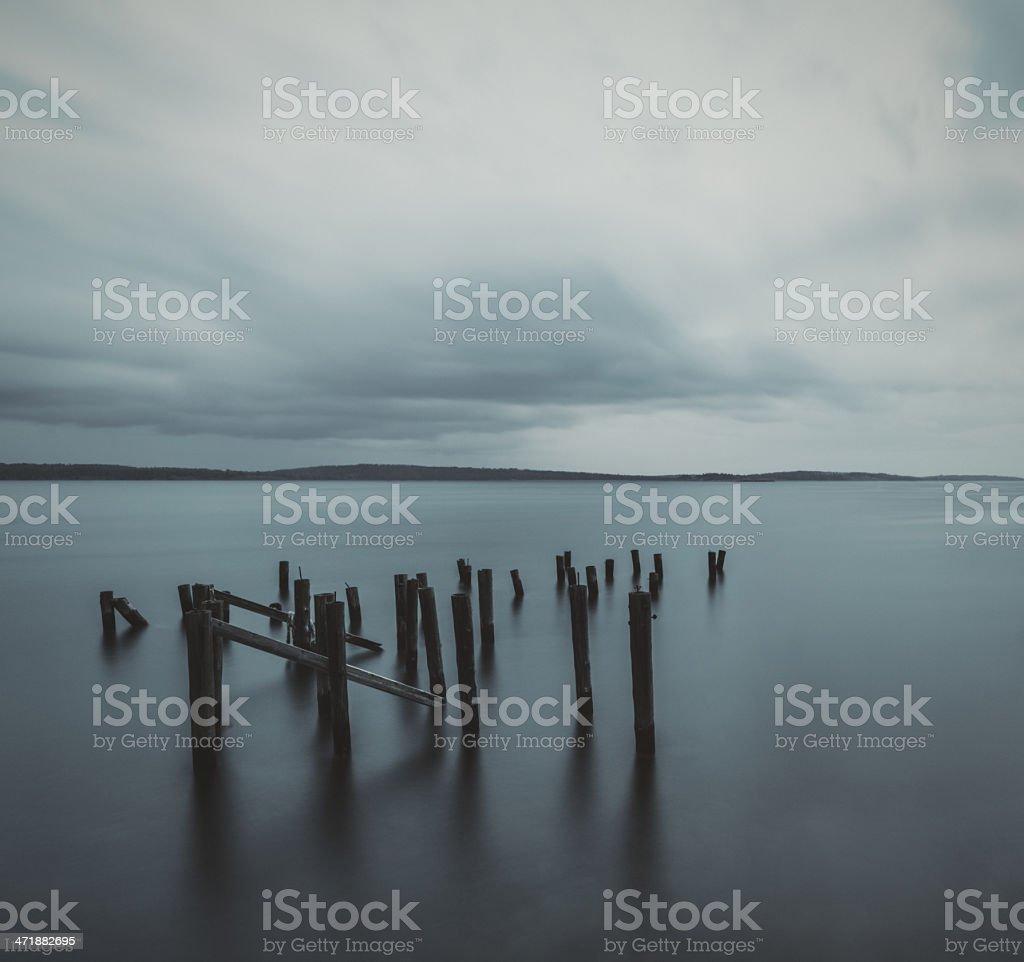 Forgotten Pier royalty-free stock photo