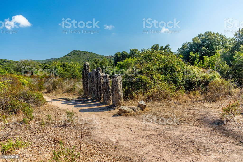 Forgotten prehistoric site in the Corsica hills - 5 royaltyfri bildbanksbilder