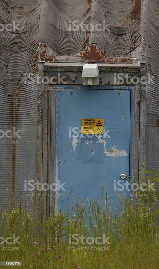 forgotten radioactive lab bunker door royalty-free stock photo