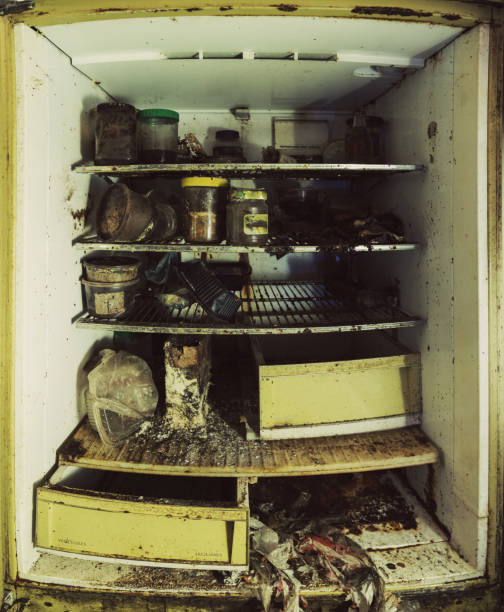 Messy Refrigerator: Best Dirty Refrigerator Stock Photos, Pictures & Royalty