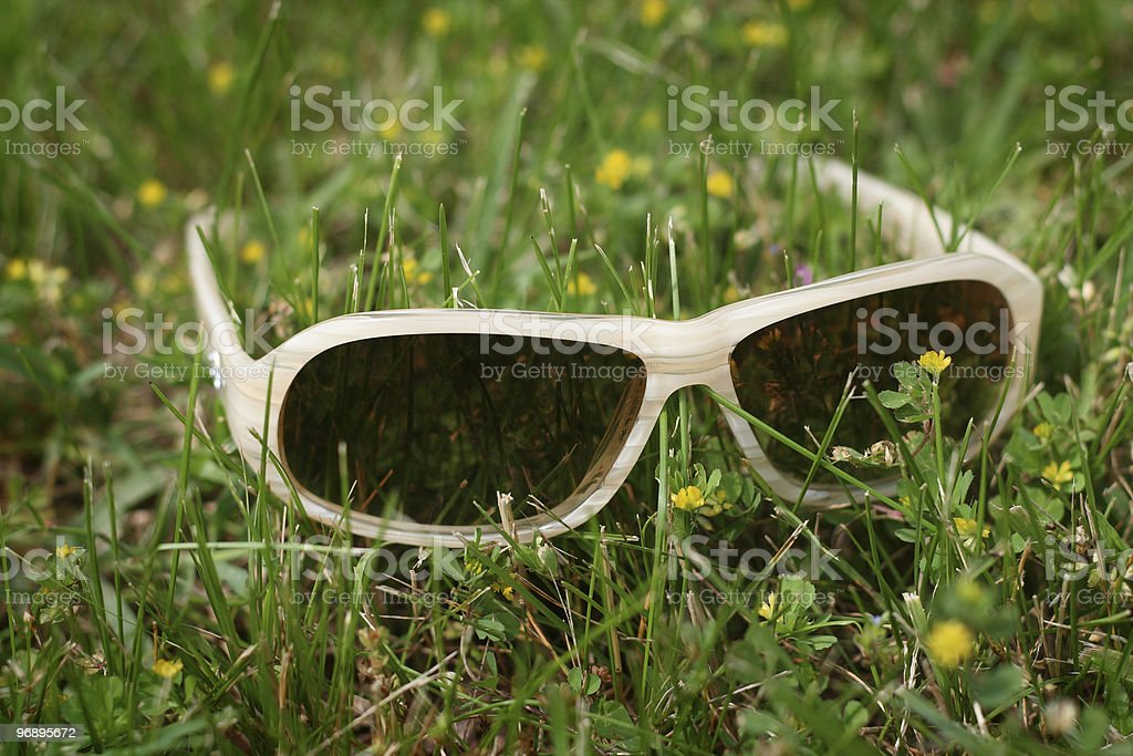 Forgotten sunglasses royalty-free stock photo