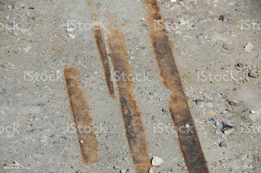 Forgotten tracks stock photo