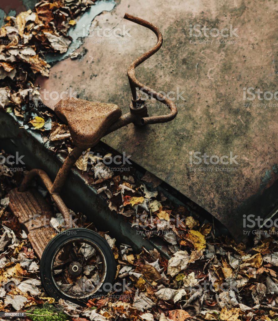 Forgotten Tricycle stock photo