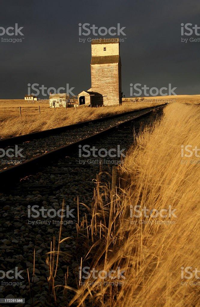 Forgotton Prairie Town royalty-free stock photo