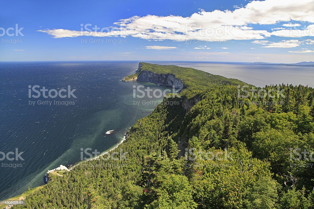 Forillon National Park, Gaspesie, Quebec stock photo