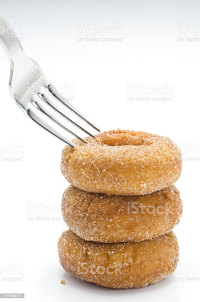 Fork and Donuts royalty-free stock photo