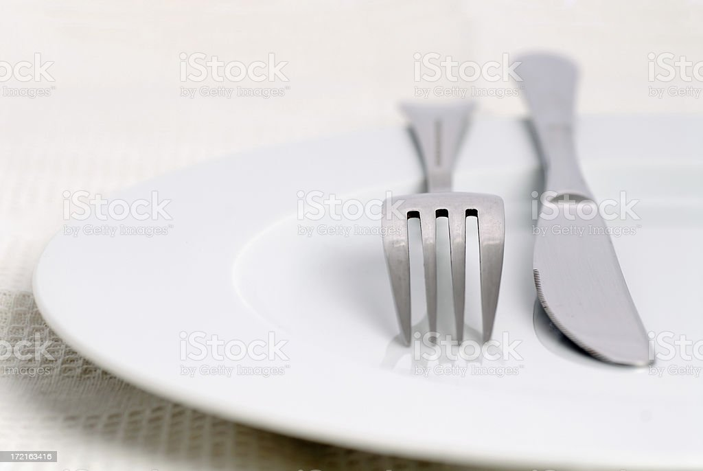 Fork and knife royalty-free stock photo