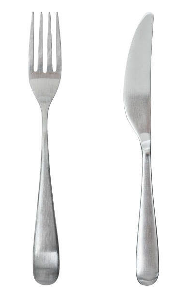 Fork and knife Fork and knife isolated on white fork stock pictures, royalty-free photos & images