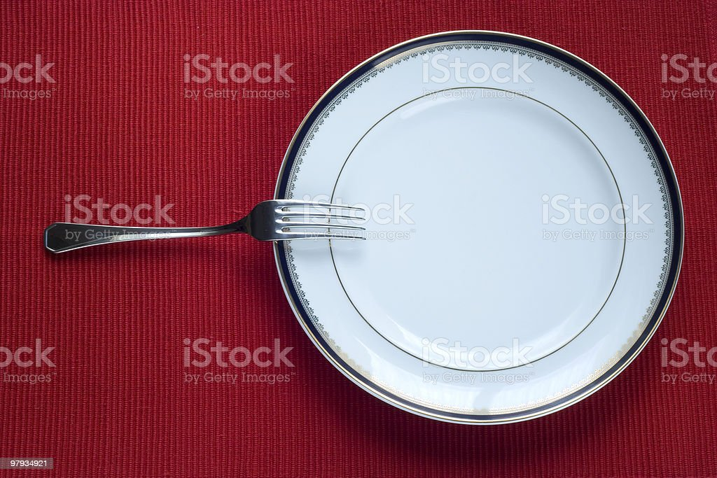 Fork and Plate royalty-free stock photo