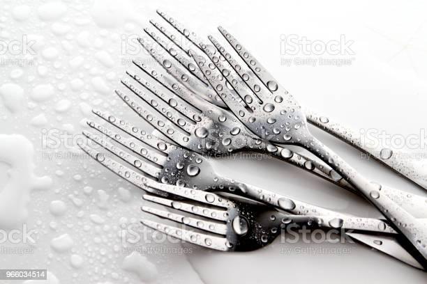 Fork And Spoon - Fotografias de stock e mais imagens de Arte