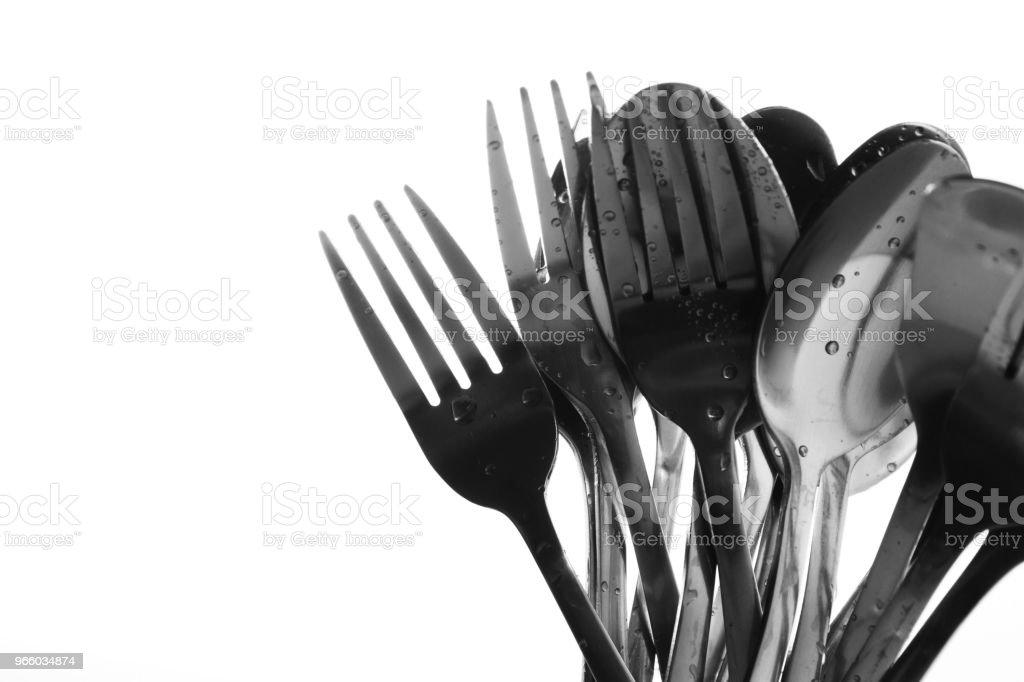 Vork en lepel - Royalty-free Begrippen Stockfoto