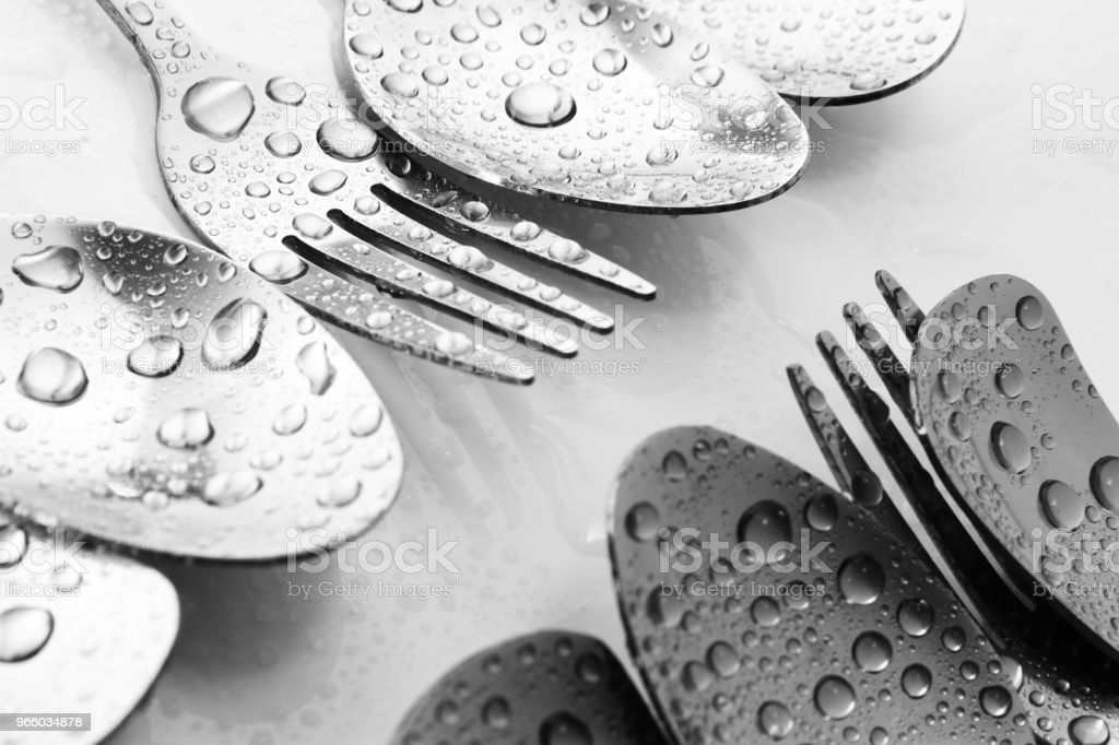 Fork and spoon - Royalty-free Art Stock Photo