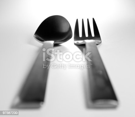 Fork And Spoon Stock Photo & More Pictures of Color Image