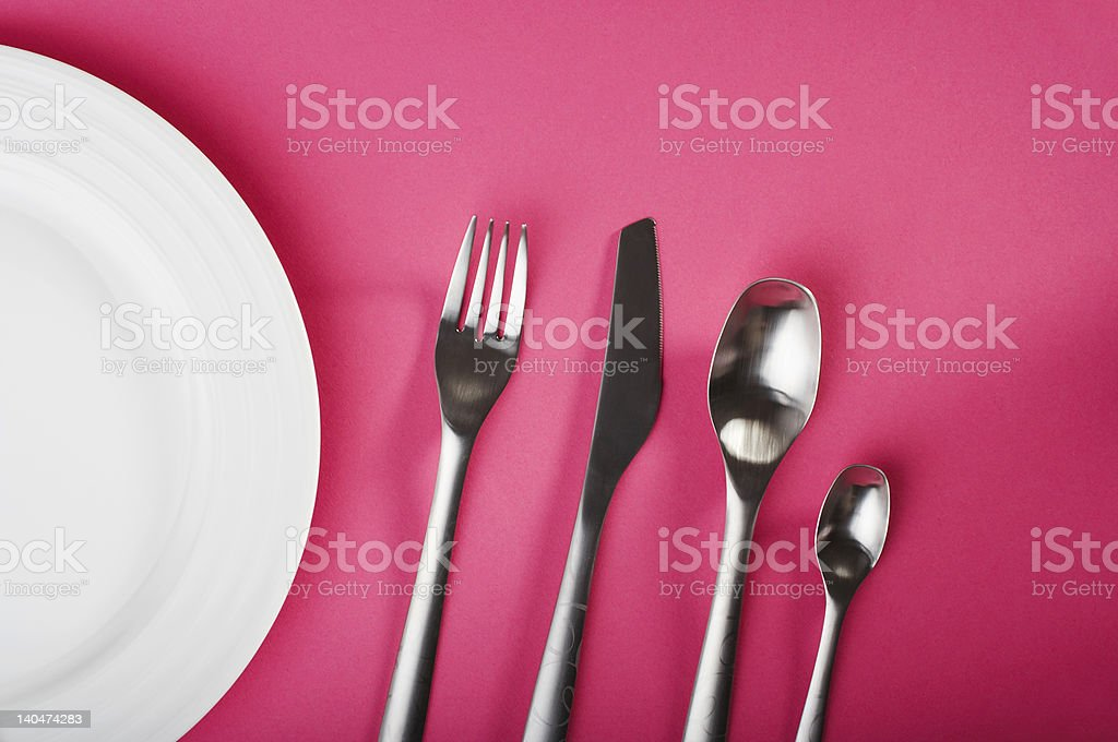 fork and spoons royalty-free stock photo