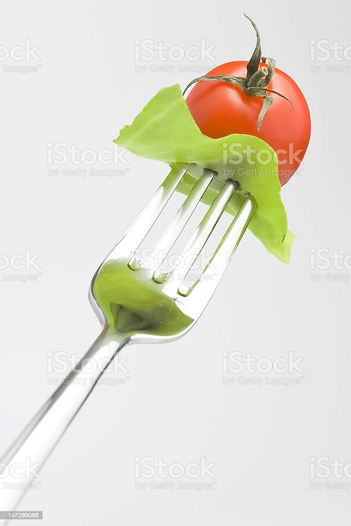 Fork crave Fresh vegetables royalty-free stock photo