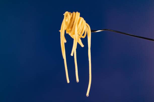 Fork Full of Spaghetti stock photo