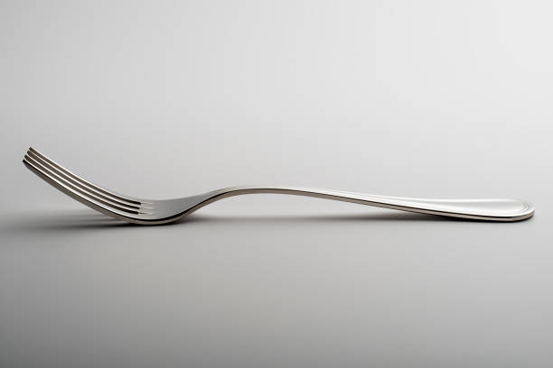 Fork isolated on white background stock photo