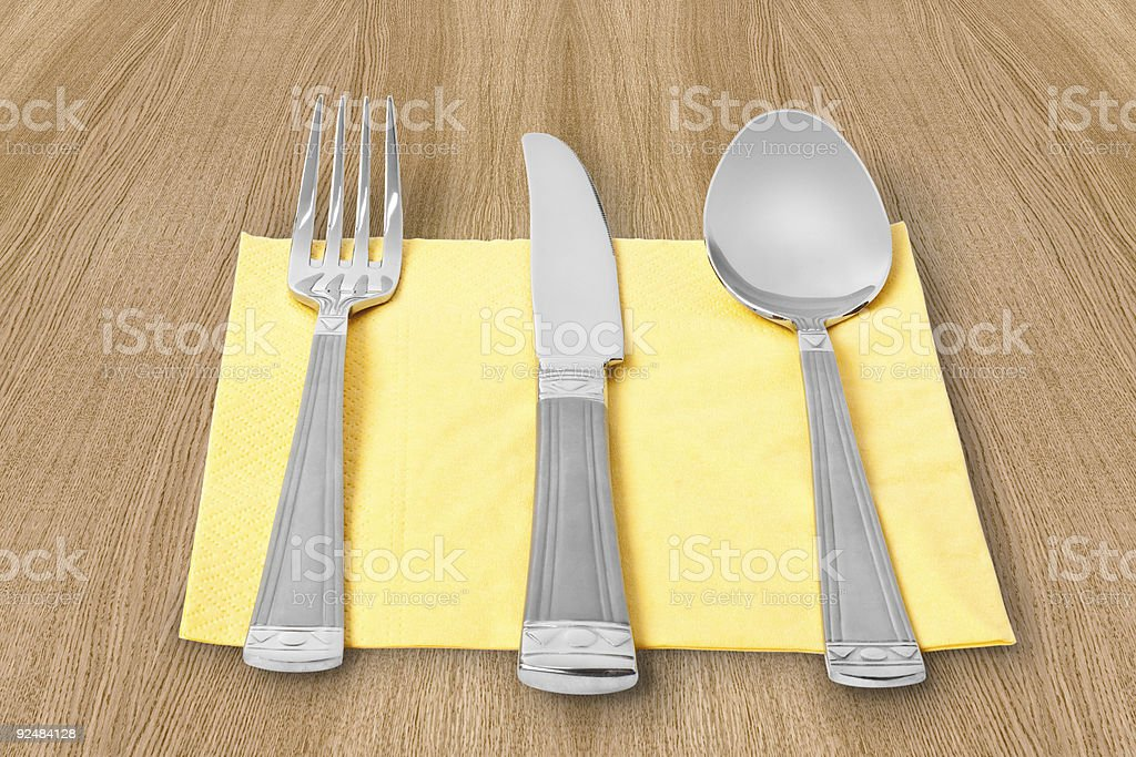 fork, knife and spoon royalty-free stock photo