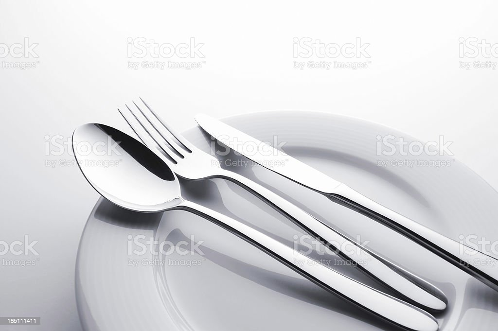 Fork knife and spoon set stock photo