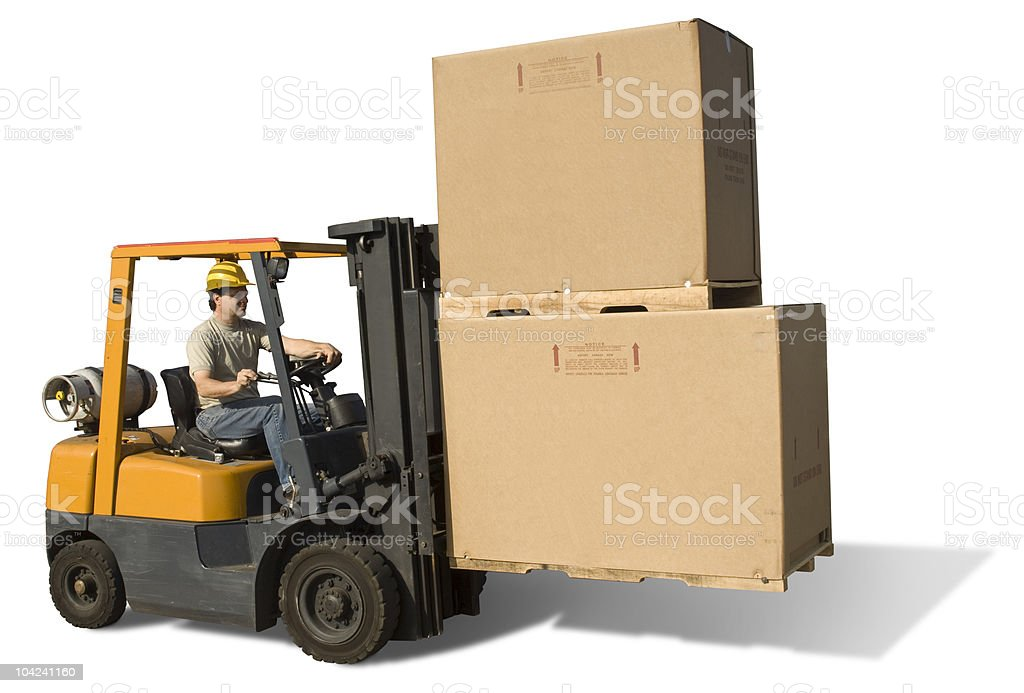 Fork Lift Isolated stock photo