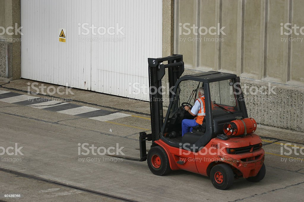 Fork Lift Truck royalty-free stock photo