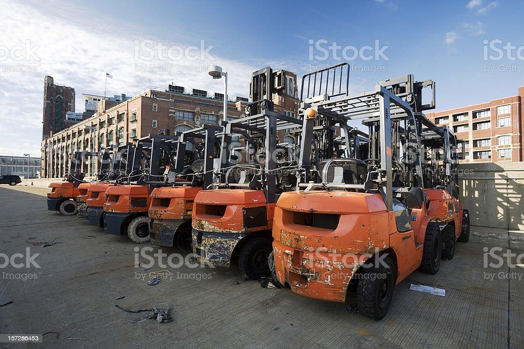 Fork Lift Trucks royalty-free stock photo