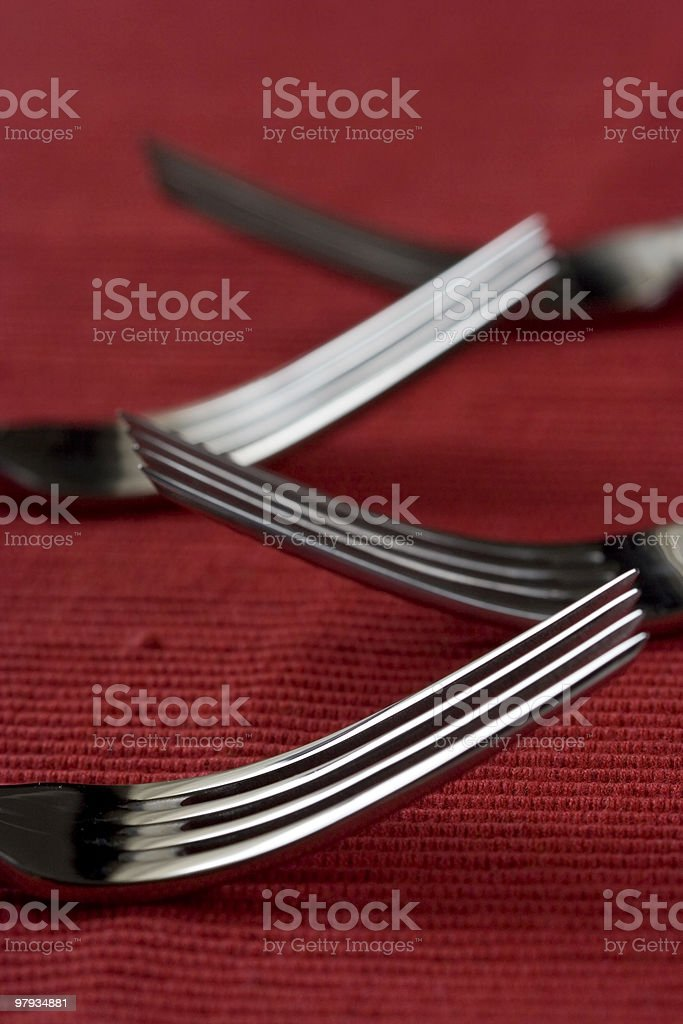 Fork perspective royalty-free stock photo