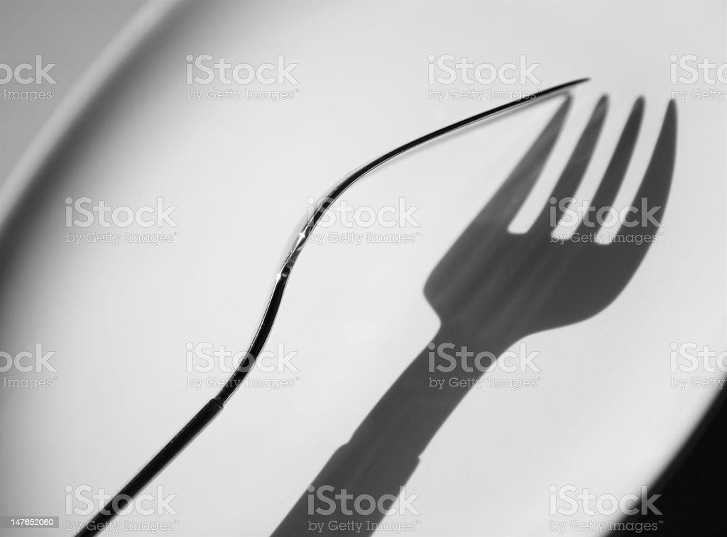 Fork #1 stock photo