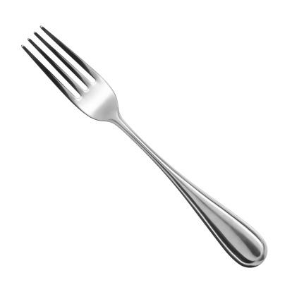 fork on white background