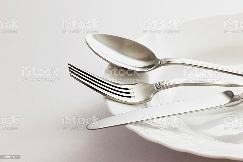 Fork Spoon and Table Knife stock photo