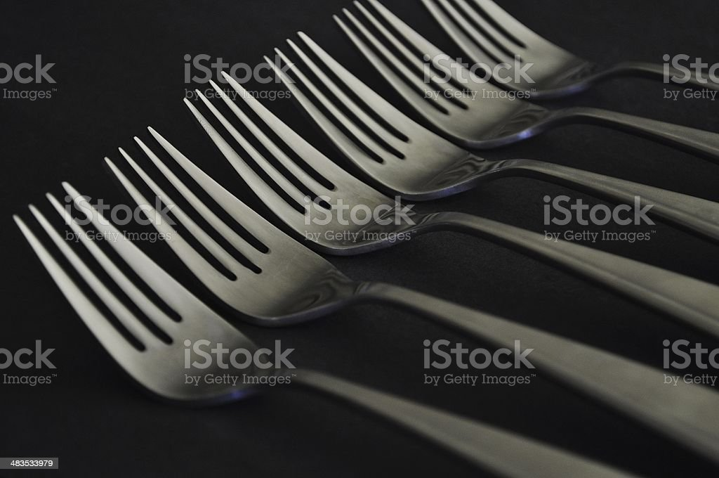 Fork Tines royalty-free stock photo