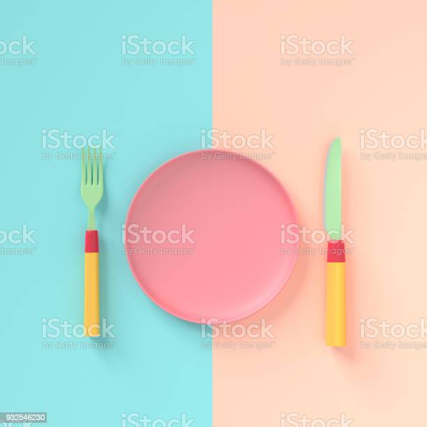Fork with knife and plate pastel color with copy space for your text picture id932546230?b=1&k=6&m=932546230&s=612x612&h=7tfr kzvmc idyfkvznrtkpnvfl1udyyu8s v16cf4k=