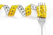 istock Fork with Measuring Tape 628694194