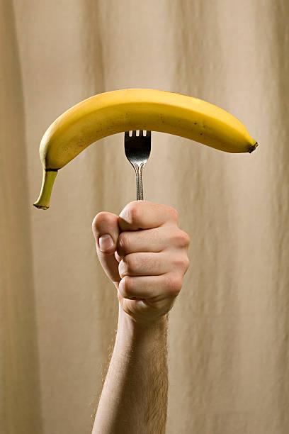 Fork you Banana stock photo