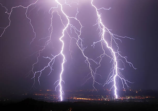 forked lightning stock photo
