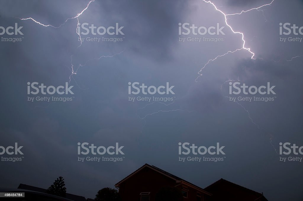 Forked Lightning - Royalty-free 2015 Stock Photo