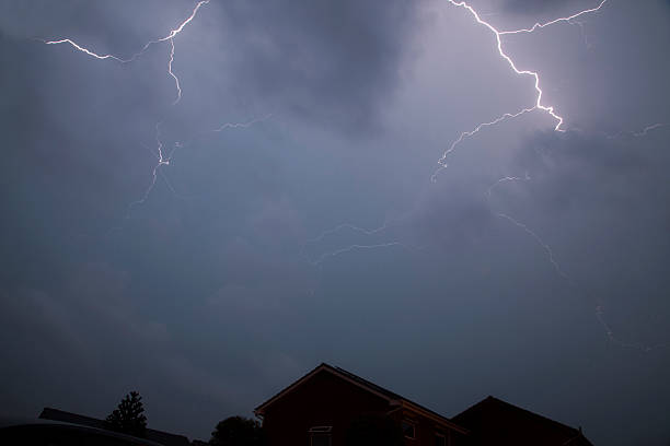Forked Lightning stock photo