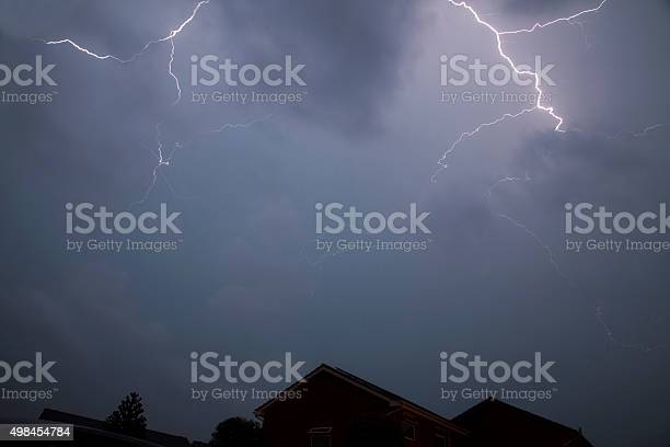Forked Lightning Stock Photo - Download Image Now