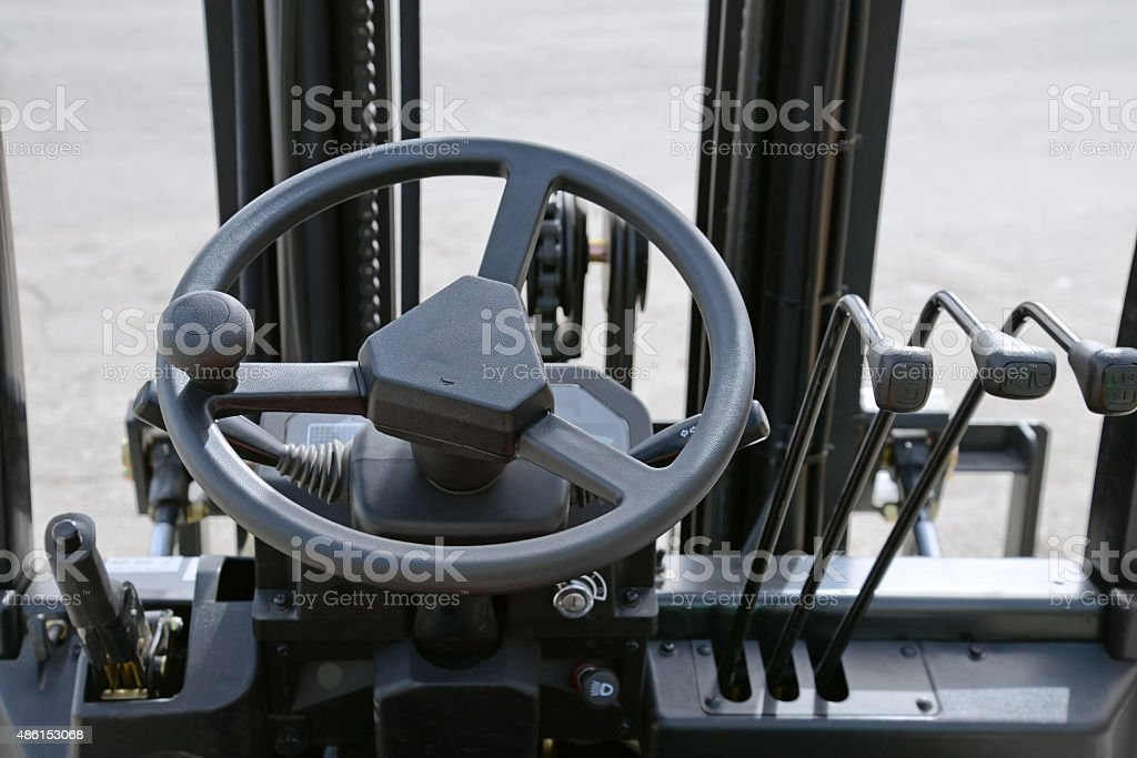 Forklift dashboard stock photo