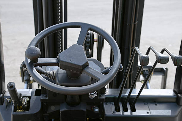 forklift dashboard - dashboard vehicle part stock photos and pictures