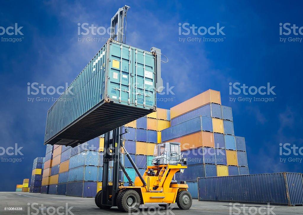 Forklift handling stock photo