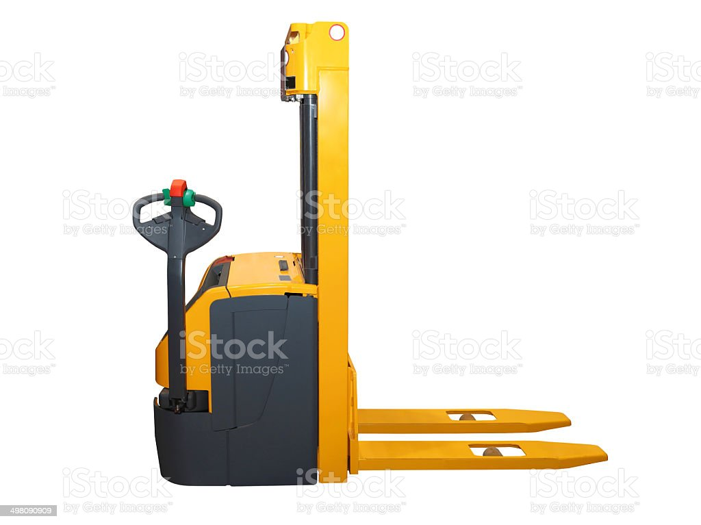 Forklift isolated stock photo
