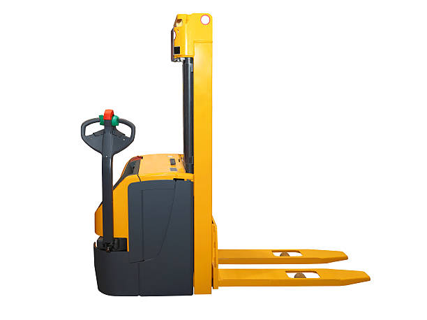 Forklift isolated Forklift pallet jack isolated included clipping path pallet jack stock pictures, royalty-free photos & images