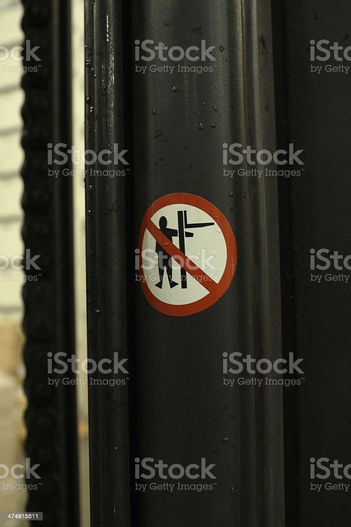 Forklift Mast Warning Sign royalty-free stock photo