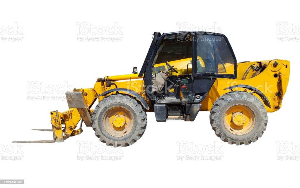 Forklift on white royalty-free stock photo