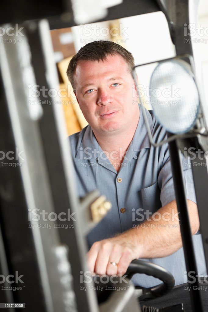 Forklift Operator royalty-free stock photo