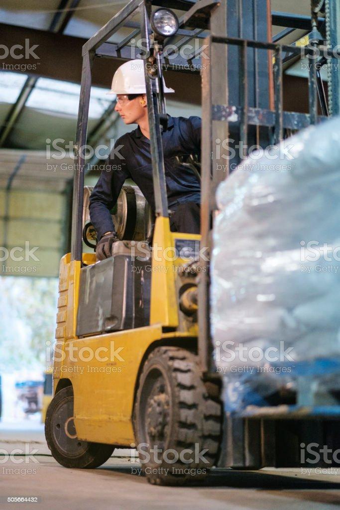 Forklift Operator stock photo